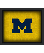 "University of Michigan ""College Logo Plus Word Clouds"" - 15 x 18 Framed ... - $49.95"
