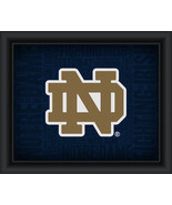 "University of Notre Dame ""College Logo Plus Word Clouds"" - 15 x 18 Frame... - $49.95"