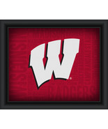"University of Wisconsin ""College Logo Plus Word Clouds"" - 15 x 18 Framed... - $49.95"