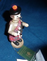 Wooden Bagpiper Figurine Made in Germany by Richard Glasser Co. - $59.99