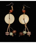 Hand crafted 3 inch Wooden Drop Earrings - $9.99