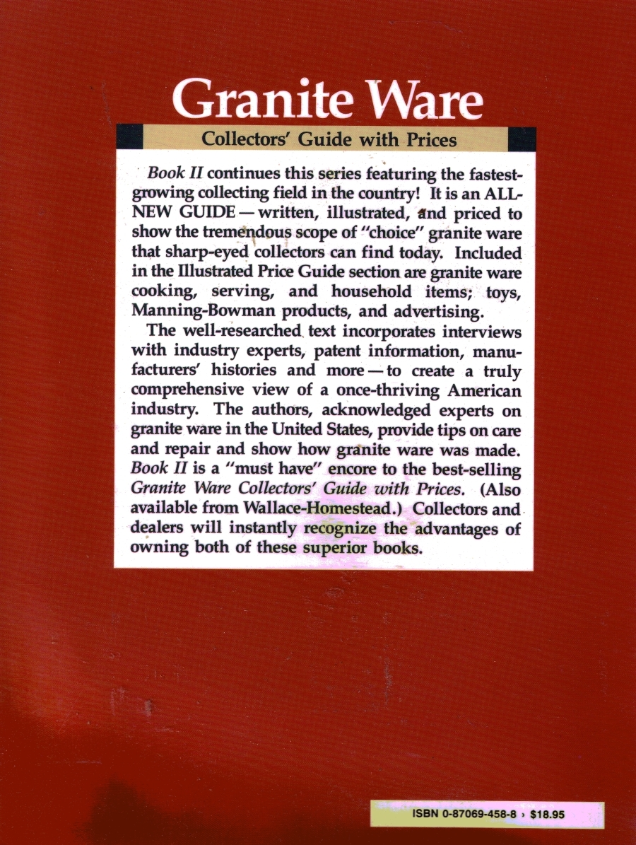 Graniteware Collectors Guide with Prices Reference Book