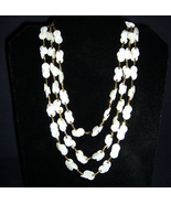 Handmade Pearlized Button Necklace C1960s - $6.95