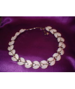 Vintage Thermoplastic White Necklace - $20.00