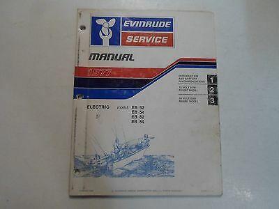 1977 Evinrude Service Shop Repair Manual Electric EB 52 54 82 84 OEM Boat WORN