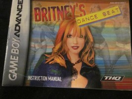 NINTENDO GAMEBOY GAME BOY ADVANCE BRITNEY'S DANCE BEAT INSTRUCTION BOOKLET - $4.99