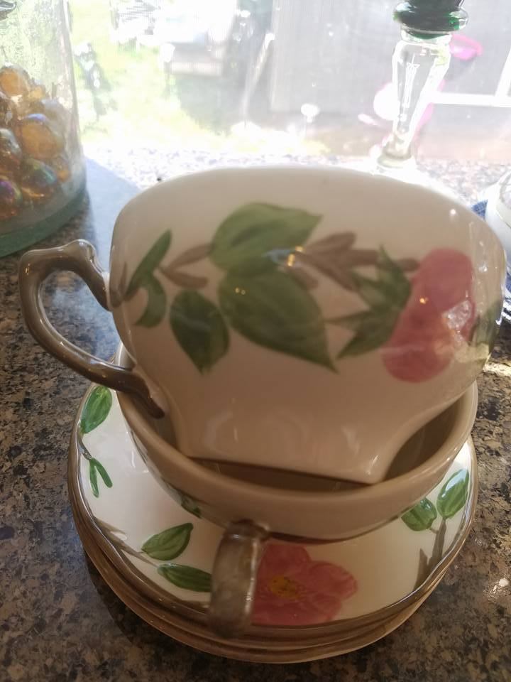 Primary image for SET OF 8--Franciscan Desert Rose Hand Painted Coffee/Tea Cup's And Saucer's