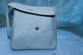 Nine West Blue twill purse small  - $14.75
