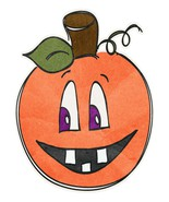 Pumpkin Toothy Smile Orange-Digital Download-ClipArt-Art Clip-Digital Ar - $4.00