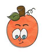 Pumpkin Big Eyes Orange-Digital Download-ClipAr... - $3.00