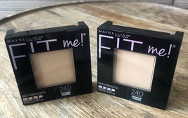 (2) Maybelline Fit Me! Pressed Powder Pressed Powder #240 Golden Beige - $9.46