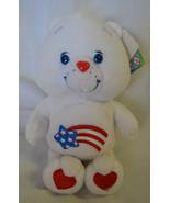 "Care Bears ""America Care Bear"" Red White Blue Rainbow Star Heart NEW Plush - $17.63"
