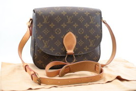 LOUIS VUITTON Monogram Saint Cloud GM Shoulder Bag M51242 LV Auth 8101 - $640.00