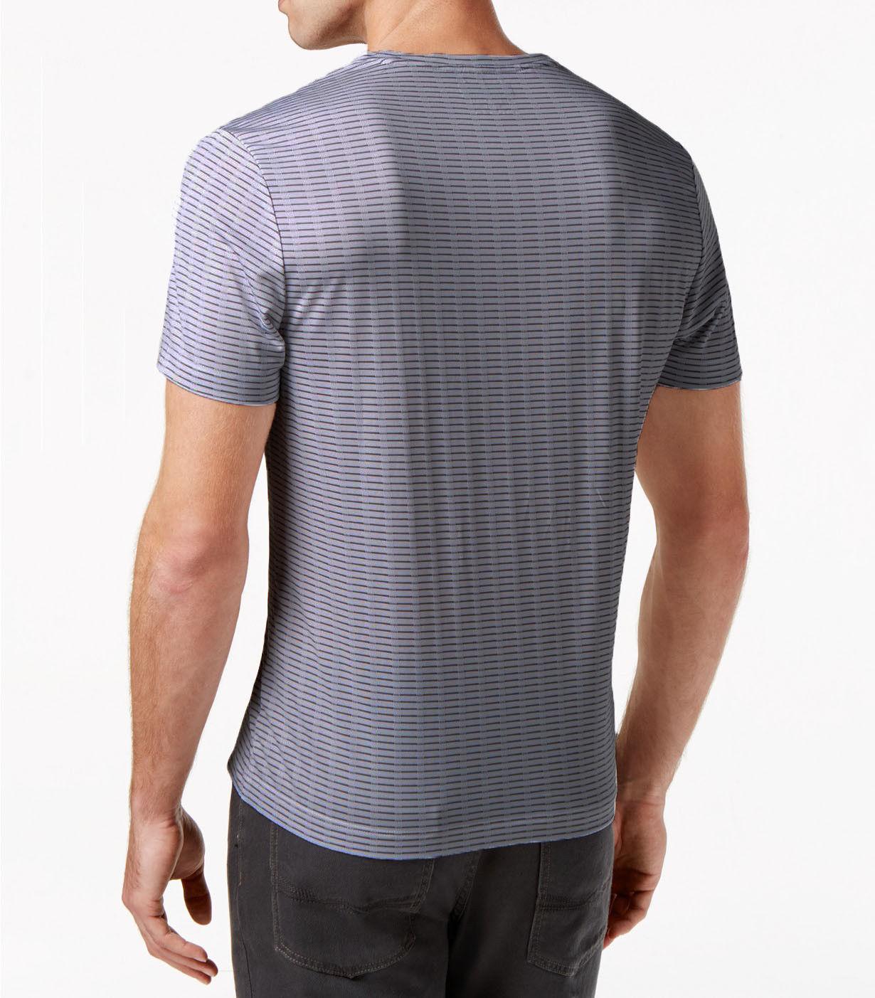 Alfani Men's Bar-Striped Performance T-Shirt, Size M, MSRP $45