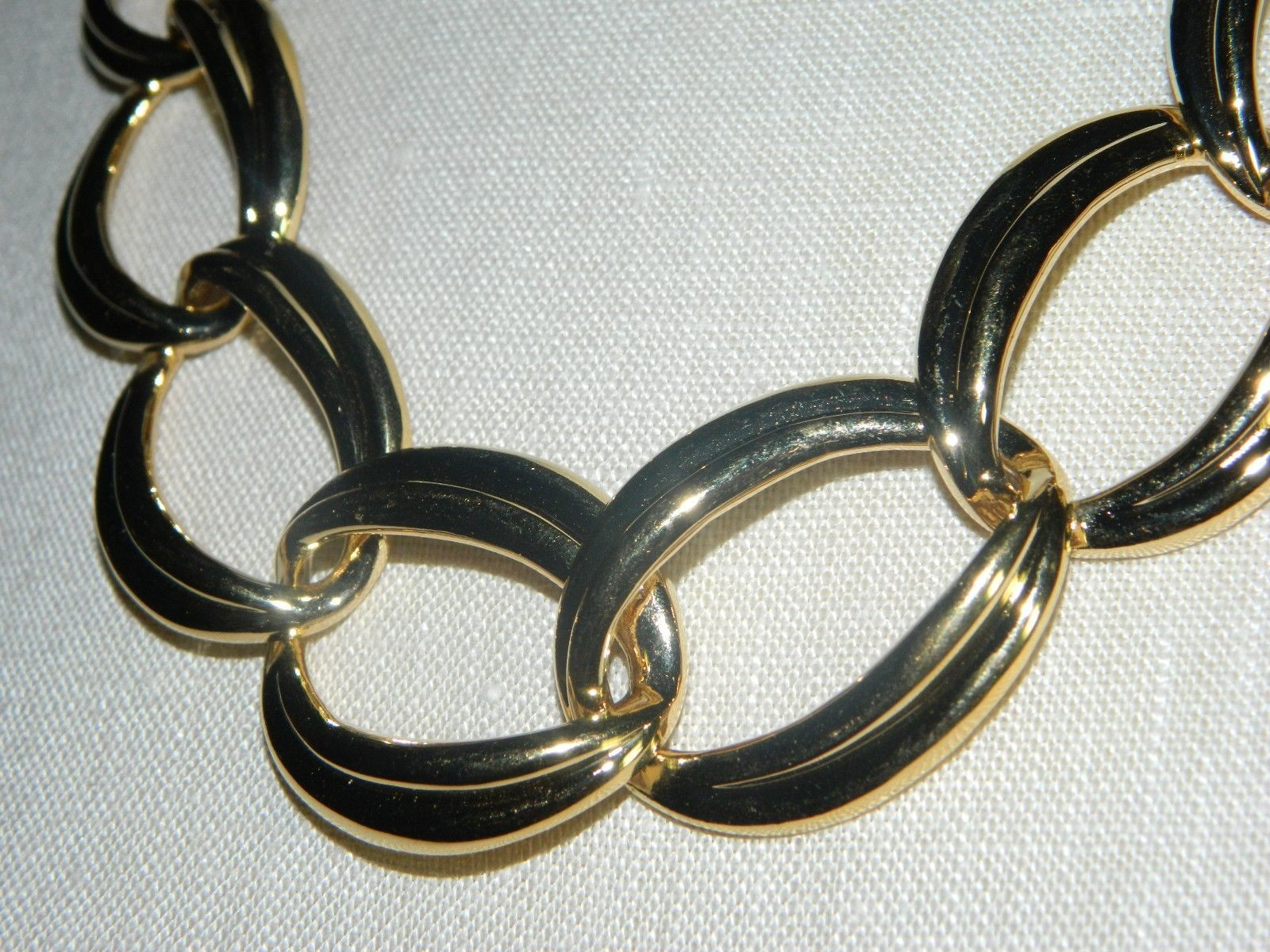"VTG NOS NAPIER with Tags Heavy Gold Tone Chain Link Choker Necklace - 20/22"" image 3"