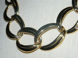 """VTG NOS NAPIER with Tags Heavy Gold Tone Chain Link Choker Necklace - 20/22"""" image 3"""