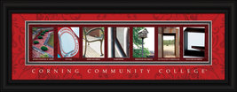 Corning Community College Officially Licensed Framed Letter Art Corning, NY - $39.95