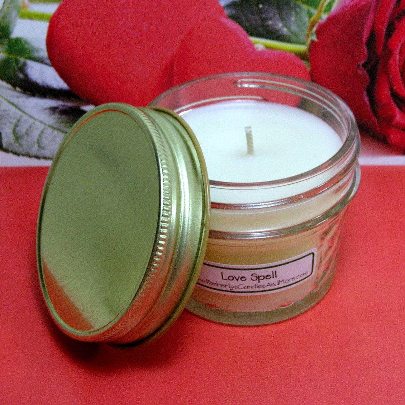 Lovespell (Type) PURE SOY 4 oz. Soy Jelly Jar Candle