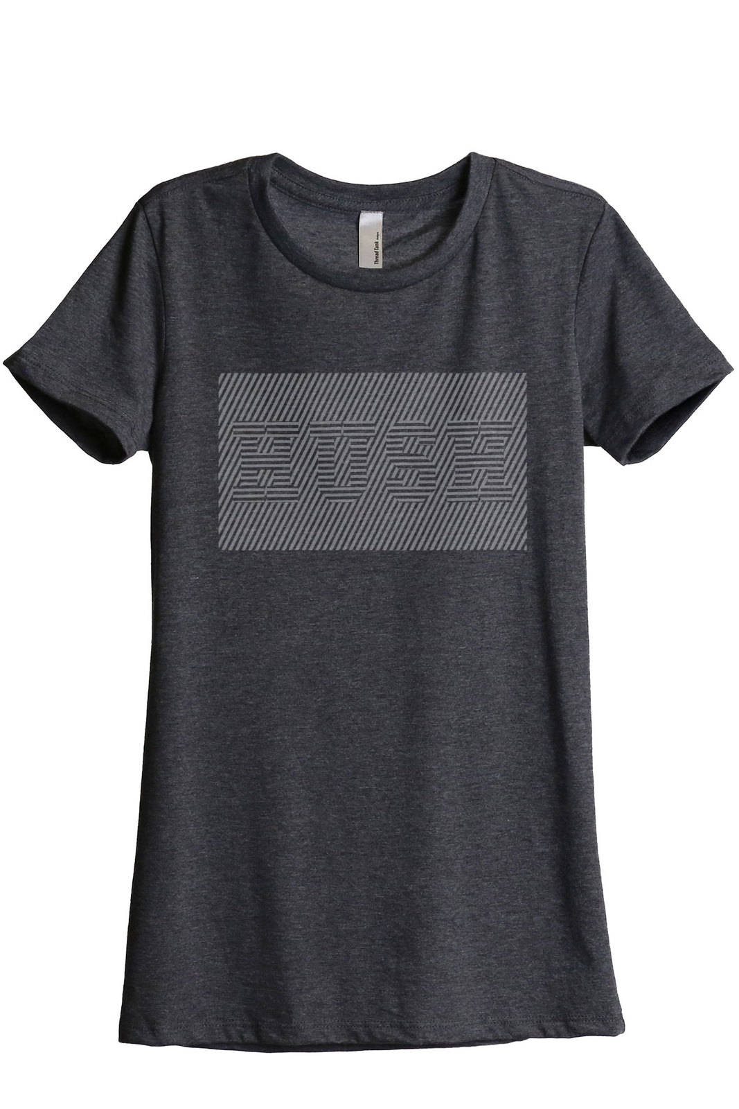 Hush Women's Relaxed T-Shirt Tee Charcoal Grey
