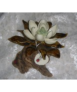 Handcrafted Ceramic Clay Magnolia Blossom Handpainted - $35.00