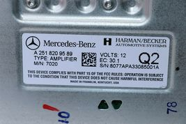 Mercedes W251 Radio Stereo Amplifier Amp A2518209589 251-820-95-89 Herman Becker image 7