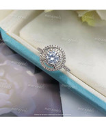 3.50Ct Round Cut VVS1/D Diamond Halo Engagement Ring In 14K White Gold F... - $118.99