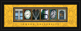 Towson University (Towson, MD) Officially Licensed Framed Letter Art - $39.95