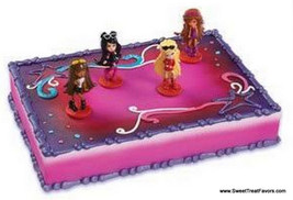 BRATZ Dolls Cake Decoration Topper Supplies Birthday Girl Party Cupcake Kit Set - $10.95