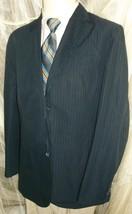 """D23 42L Cotton HILFIGER BLAZER Sport Coat Hand stitched navy 27"""" working sleeves - $37.04"""