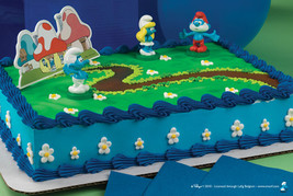 SMURF Smurfette Cake Topper Favors Decoration Kit Set Birthday Movie Cupcake NEW - $10.95