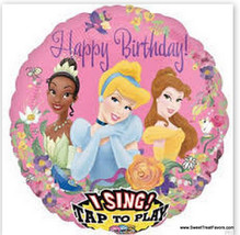 Disney Princess  Singing  Musical Party Shower Balloon Decoration Mylar ... - €7,90 EUR
