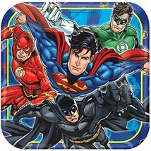 American Greetings Justice League Paper Dinner Plates, 8-Count - $5.40
