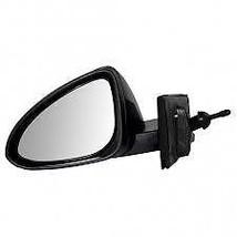 Fits 13-15 Chevrolet Spark Left Driver Mirror Manual Remote Unpainted Black - $55.95