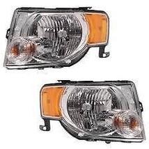 08-12 Ford Escape & Escape Hybrid L & R Headlamp Assemblies w/dark bezel... - $472.45