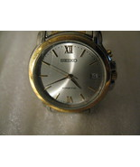 Seiko 5M62-0B20 KINETIC 2 TONE STAINLESS STEEL Wrist Watches For Men.  - $55.00
