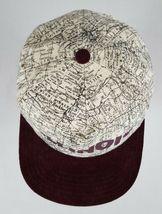 Vtg Illinois Map Snapback Hat Cap Corduroy Bill IL Roadmap Burgundy Made in USA image 7