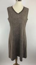 Fresh Produce Womens Dress Medium Brown Printed V-Neck Sleeveless Shift ... - $19.28