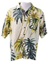 Men's Tommy Bahama 100% Silk Palms Short Sleeve Hawaiian Shirt Size:L - $19.99