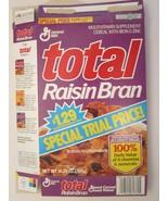 Empty GENERAL MILLS Cereal Box 1993 TOTAL RAISIN BRAN 10.25 oz Ser 1 - $6.38