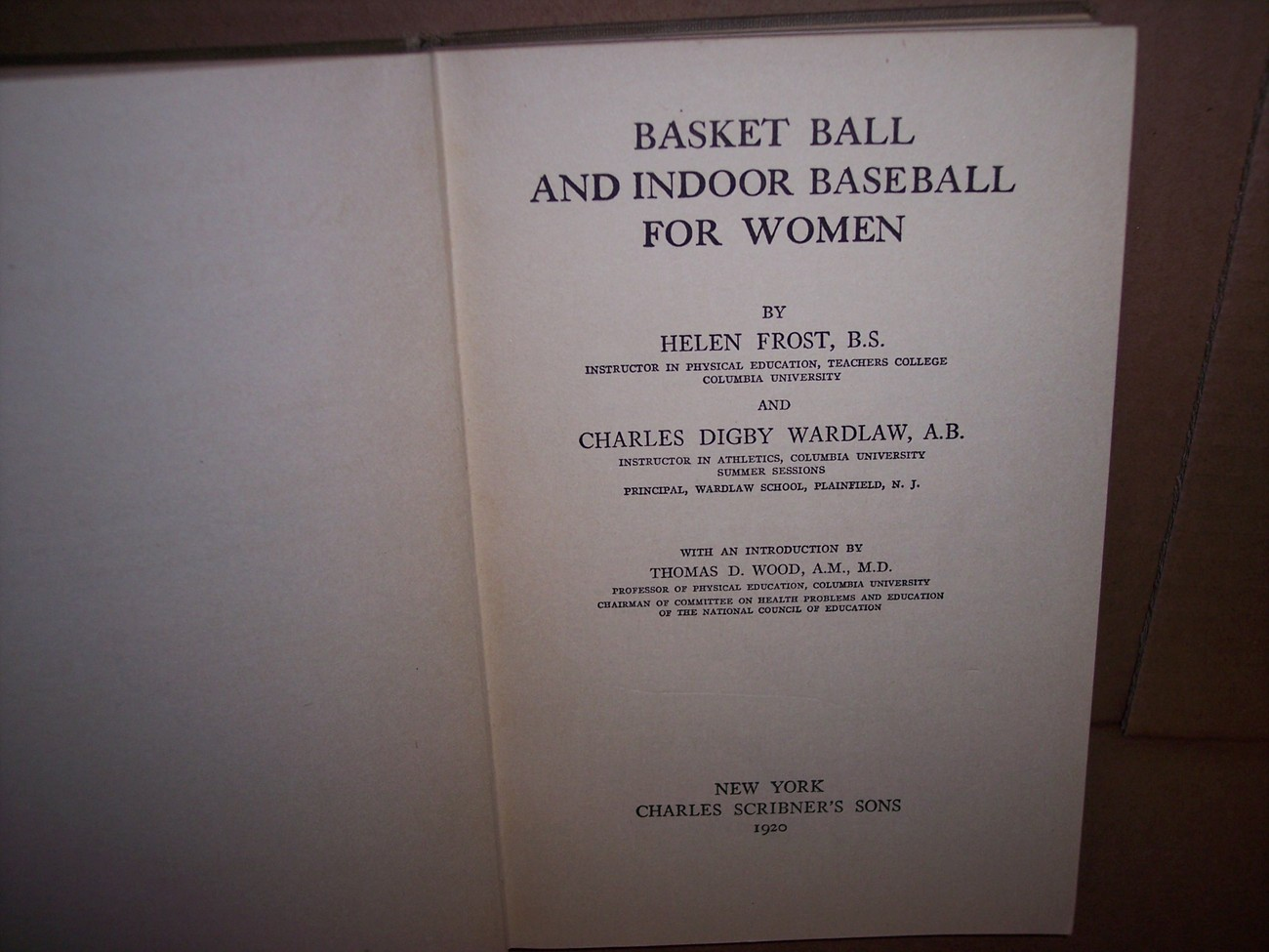 Basket Ball and Indoor Baseball for Women  1920