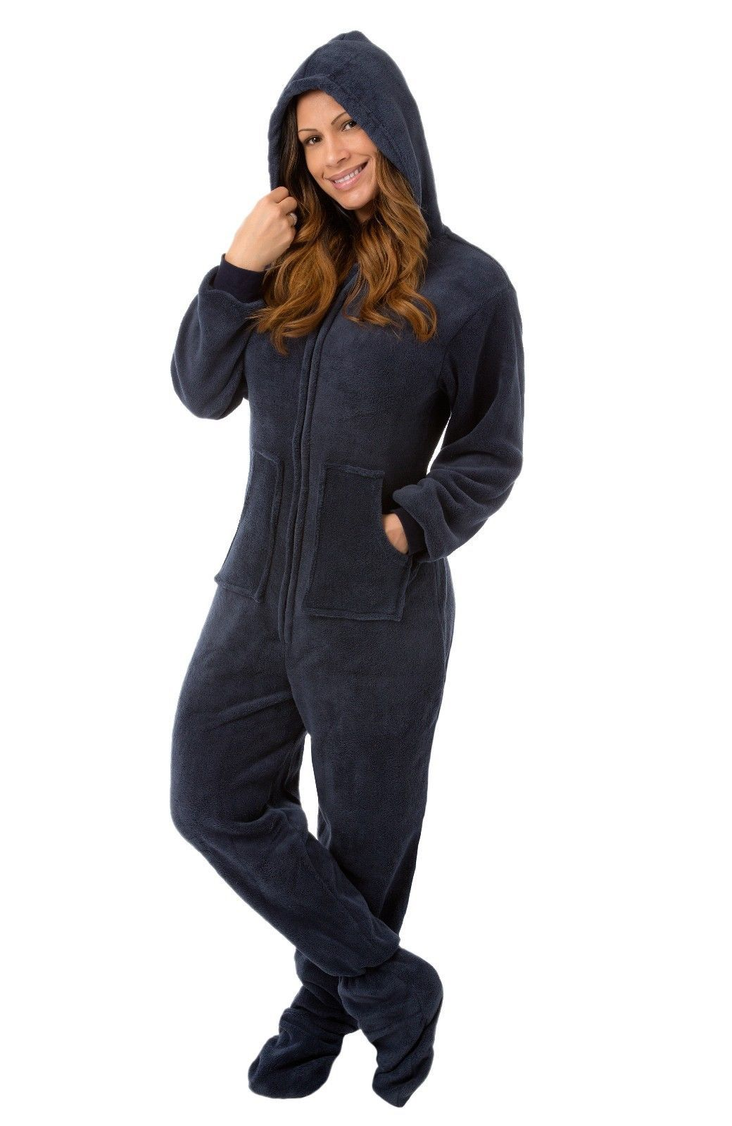 Stay warm from head to toe this winter in footie pajamas with hoods or footless one piece pajamas for $ These PJs are so much fun for sleeping, lounging, or even a pajama party. Great selection of colors and patterns in every size.