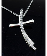 Sterling Silver cross pendant with CZ's - $89.00