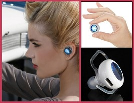 Tiny Wireless Bluetooth Stereo Earphone Headset 4.0  Answer Calls Listen Music image 1