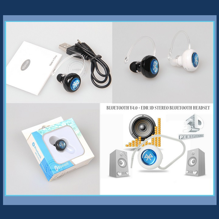 Tiny Wireless Bluetooth Stereo Earphone Headset 4.0  Answer Calls Listen Music image 3