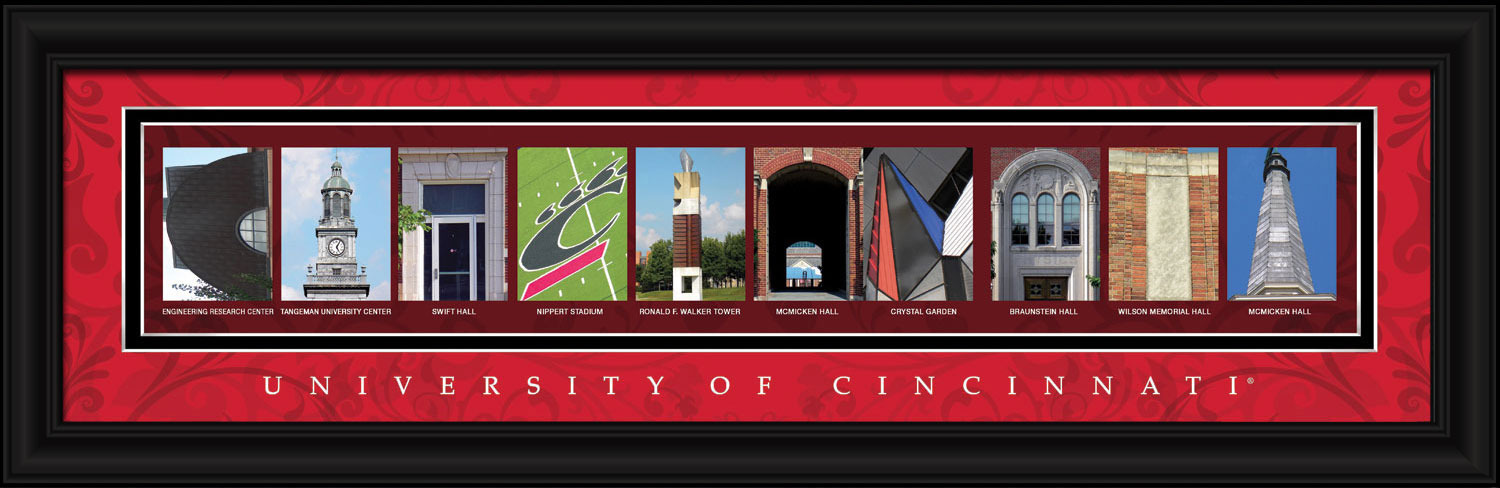 Primary image for University of Cincinnati Officially Licensed Framed Letter Art  2 Versions