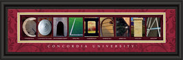 Concordia University Officially Licensed Framed Letter Art  - $39.95