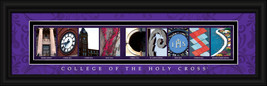 College of the Holy Cross Officially Licensed Framed Letter Art Worcester, MA. - $39.95