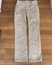 * Old Navy tan boot cut stretch corduroy pants jeans bottoms sz 10 girl - $5.94