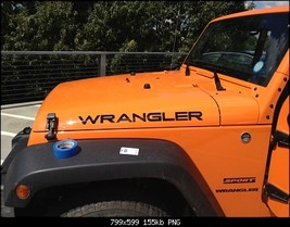 Jeep WRANGLER Extra Large Hood Decals TJ Style   - $19.99
