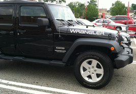 Jeep WRANGLER Extra Large Hood Decals YJ Style - $30.00